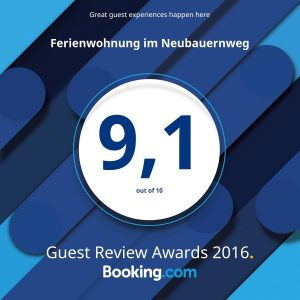 Guest Review Awards 2016 booking.com 9,1