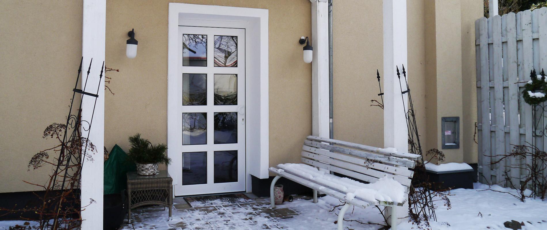 Ferienwohnung im Winter Eingang